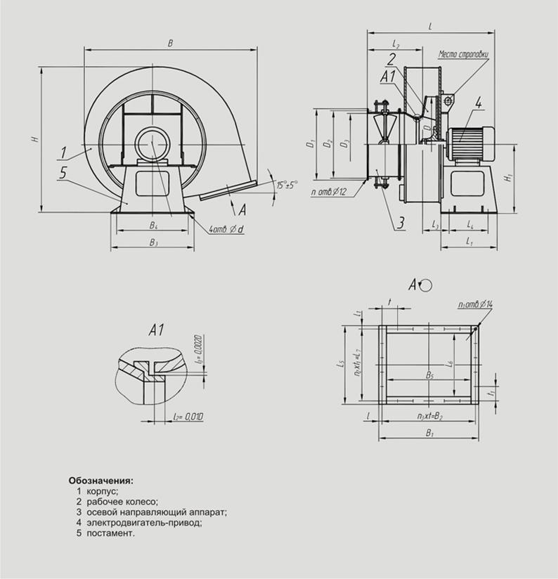 Вентиляторы дутьевые ВДН (№ 6