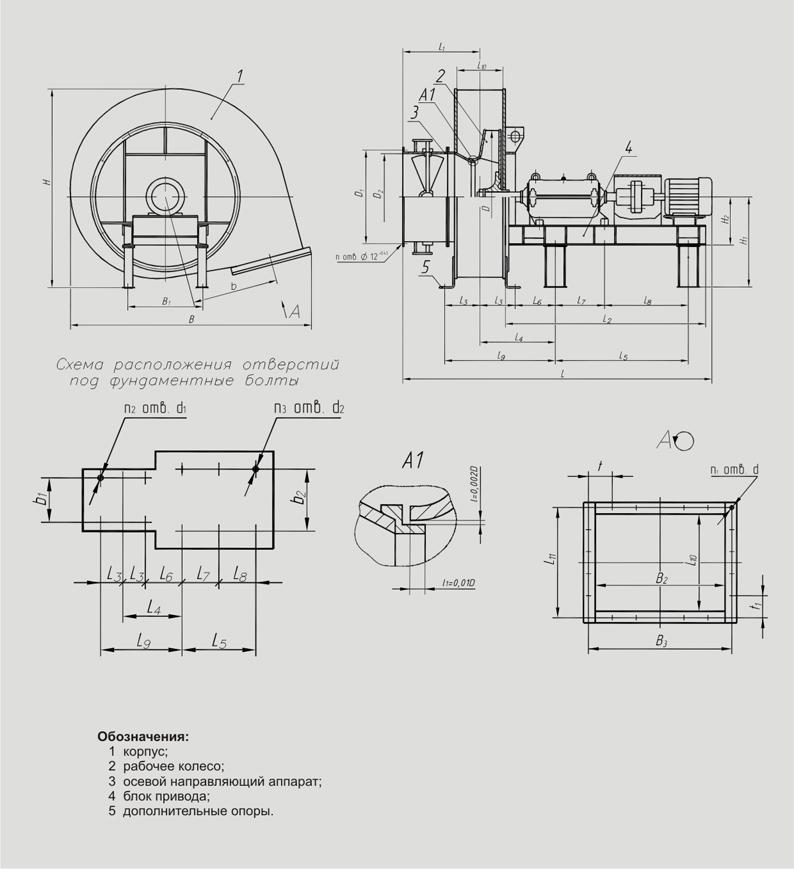 Вентиляторы дутьевые ВДН-Х (№6
