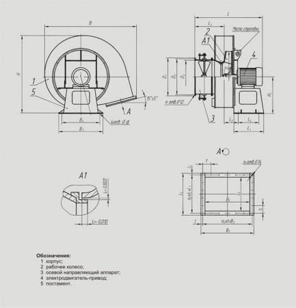 Вентиляторы дутьевые ВДН (№ 6,3; 8; 9; 10; 11,2; 12,5; 13)