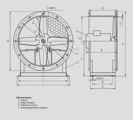 Вентиляторы осевые В-06-300 (№ 6,6; 8)