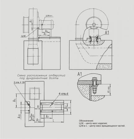 Вентиляторы дутьевые высоконапорные ВДН-Х (№ 8,5Х; 8,5Х-1)