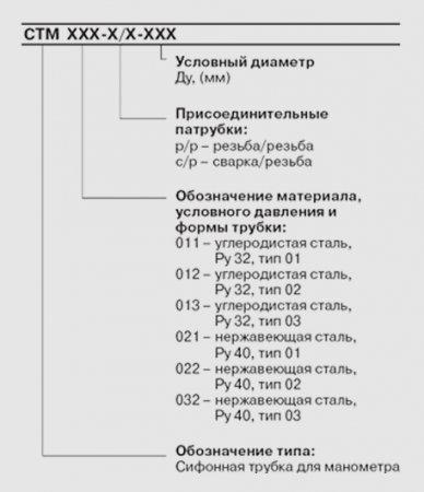 "Трубка для манометра СТМ. Ду 1/4""-1/2"""